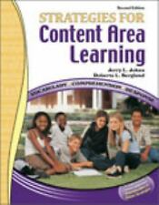 Strategies for Content Area Learning: Vocabulary*Comprehension*Response W Cd Rom