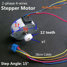 Japan 42mm Round Stepper Motor + Gear DC 5V 2-Phase 4-Lead-wire step angle 15°