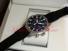 IWC Pilot's Chronograph Stainless Steel Black Dial Black CrocStrap 43mm IW377701