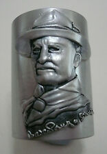 SCOUTS OF CHINA (TAIWAN) - LORD BADEN POWELL BP SILVER Metal Neckerchief Woggle