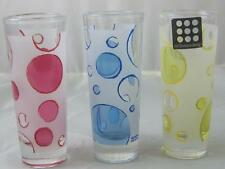 3 Retro CircleWare Design Shot Glasses Shooters Cerve Lemon Drop Italy Yellow