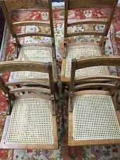 Antique Set 4 Oak Carved back  Dining Room Chairs Chair s Nice Old