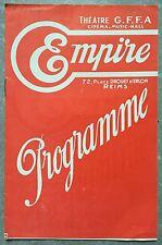 Programme EMPIRE Reims MATER DOLOROSA Ce cochon de morin 1933