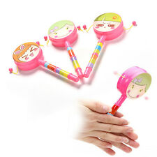 1X Rattle Drum Smile Baby Kid Percussion Educational Musical Instrument Toy MW