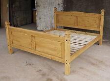 Pinie Massivo Bett 180x200 Doppelbett Holz Massivholzbett corona Farbton Honig