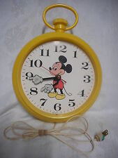 Mickey Mouse Electric Wall Hanging Pocket Watch Clock WELBY Elgin REPAIR PARTS