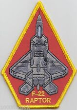 F-22 Stealth By Design F22 Raptor Driver Diamond USAF  Embroidered Badge Patch