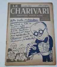 Ancienne revue Hebdomadaire satirique LE CHARIVARI Jehan Sennep n°26 Déc 1926