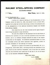 [42343] APRIL 1926 RAILWAY STEEL-SPRING COMPANY LETTER TO STOCKHOLDERS