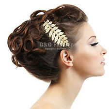 Grecian Bridal Prom Laurel Leaf Gatsby Hair Pin Clip Dress Snap Barrette Comb