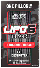 Nutrex LIPO 6 Back Ultra Concentrate 60 Caps Rapid Weight Loss Pills Fat Burner