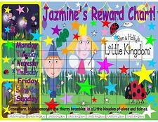 Ben And Hollys Little Kingdom Personalised Reward Laminated Chart Free Stickers