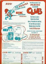 1978 Panini Canada Card Club, Flyer and  Membership Application Form