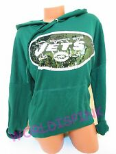 VICTORIAS SECRET HOODIE NFL NEW YORK JETS SEQUIN LARGE NWT