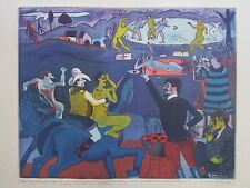 WARRINGTON COLESCOTT ETCHING EXPRESSIONISM WHIMSICAL MODERNISM VINTAGE ABSTRACT