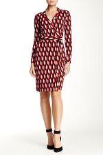 NWT Diane von Furstenberg New Jeanne Two Printed Wrap Dress 6 $398