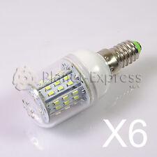 6x Ampoule E14 6W 48 LED SMD 3014 Blanc Froid 12V/24V DC/AC Bateau,Réfrigérateur