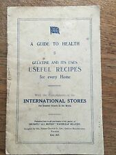 A Guide to Health Gelatine & iits Uses Useful Recipes RARE Cookery Cook Book