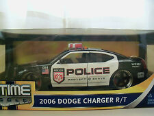 """JADA """"BIGTIME MUSCLE"""" 2006 DODGE CHARGER R/T POLICE CAR 1/18 DIECAST"""