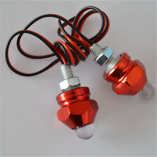 1Pair Red 12V LED Motorcycle Flashers 7Color Strobe Flash Bullet Safety Lights