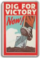 DIG FOR VICTORY WW2 POSTER Fridge Magnet