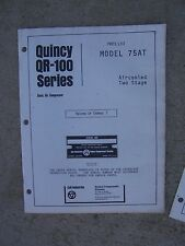 1975 Quincy QR-100 Series Model 75AT Two Stage Air Compressor Parts List R