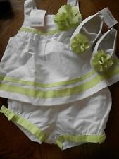 Gymboree NWT Baby Girl 18-24 Spring W & G Linen Blend Floral Sunsuit & Crib shoe