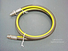 """MIDBRASS DOMESTIC GAS COOKER / OVEN HOSE STRAIGHT BAYONET 6 FOOT X 1/2"""""""