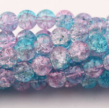 Wholesale 120Pcs 6mm Round Czech Glass Crackle Loose Spacer Crafts Beads/Cord