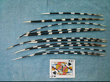 """12 African Porcupine Quills 10"""" - 14"""" for Jewellery, Arts, Crafts, Hairpins (qs)"""