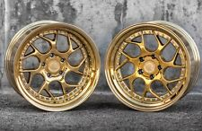 18x9.5/10.5 Aodhan DS01 5x114.3 +15 Gold Vaccum Rims Fits 350Z 370Z G35 Coupe