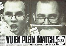 PUBLICITE ADVERTISING 027  1981  montures de lunettes Krys  (2p)