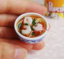 shrimps noodle Bowl Food 1/6 scale Barbie Blythe DOLL Dollhouse Miniature