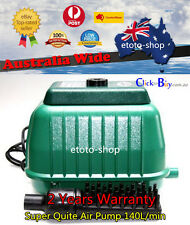 Super Quite 140L/min Aquarium, Septic Air Pump -OZ Plug