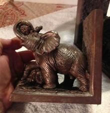 Pair of Bronze colored Elephant Bookends in Fine Detail