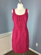 Antonio Melani Pink Sheath Dress career cocktail Excellent S 6