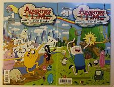 Adventure Time #1 B + C Connecting Variant Covers (Boom, 2012) Rare, 1st Print