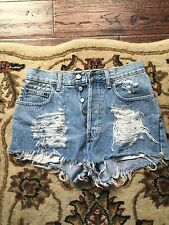 GAP Denim High Waisted Jeans Shorts W30 Loose Fit, Studs on Pocket, worn once