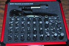 38 Piece Mini Ratchet and Bit Set Sunex 9726