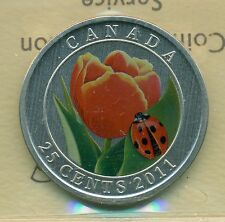 2011 Canada Ovesized 25 cent Lady Bug ICCS SP 67