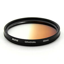 Albinar 58mm Brown Coffee Graduated Gradual Color Filter