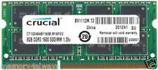 Crucial 8GB DDR3 PC3-12800 Unbuffered NON-ECC 1.35V 1024Meg x 64
