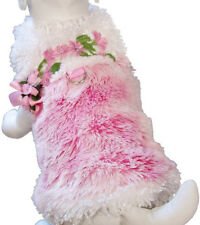 Cha Cha Couture Size XS Pink Furry Princess Harness Coat Dog Clothes