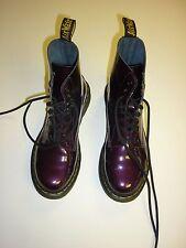 Genuine Dr Martins women's/girls boots – Size 5 – Purple/Burgundy - Worn once
