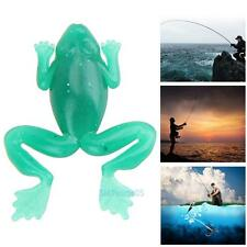 20 PCS Green Frogs Soft Fishing Lures Bass Bait Water Swim Fish Baits Crankbaits