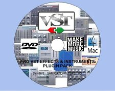 MAC / OSX PRO VST FX & INSTRUMENTS PLUGIN PACK FOR CUBASE ABLETON FL LOGIC ETC!!