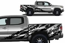 Custom Vinyl Decal SHRED Wrap for 4D ShortBed 16-17 Toyota Tacoma TRD Flat Black