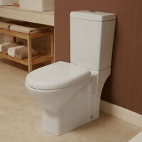 Toilet Bathroom WC Close Coupled Toilet Modern Cloakroom Soft Close Toilet Seat