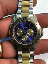 Nice Men's Dual Tone Purple Face Nautica Analog Watch