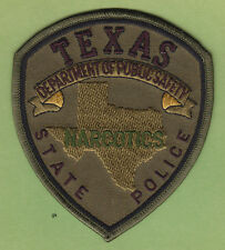 TEXAS STATE POLICE NARCOTICS DEPARTMENT OF PUBLIC SERVICE PATCH (Subdued -Green)